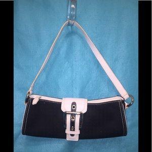 Nine West's SoHo B&W Shoulder Bag & Change Purse